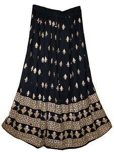 Rayon Skirt Indian Gypsy Women Ehs Retro Boho Jupe Hippy Falda Kjol Vintage Look