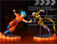 Anime Dragon Ball Z Super Saiyan Goku blue PVC Action Figure Collectible Toy