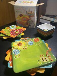 Laurie Gates Melamine Dinnerware Set 12 piece set.  Check Description!