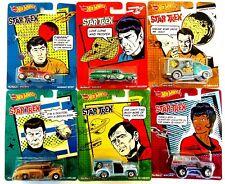 STAR TREK-Hot Wheels-Real Riders Set of 6-Spock-Kirk-Sulu-Scotty-Lt Uhura-McCoy