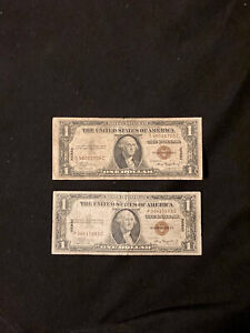 1935A 2 silver certificates, HAWAII, One Dollar Bills, Currency.