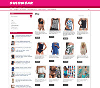 SWIMWEAR UK WEBSITE  + one years hosting - new domain - easy home business