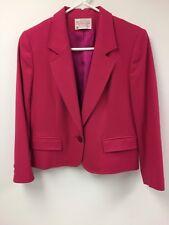 Pendleton Petite 8 Women's Blazer Pink 100% Virgin Wool Suit Coat Jacket Casual