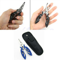 New Stainless Steel Fishing Pliers Scissors Line Cutter Remove Hook Tackle Tool