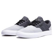 "Supra ""Cobalt"" Shoes (Light Grey/Grey/White) Men's Canvas Skateboarding Sneakers"