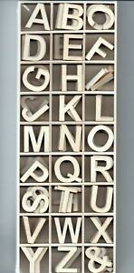 Set Mit 2.5cm Holz Alphabet Buchstaben Ein - Z (Packung 162)