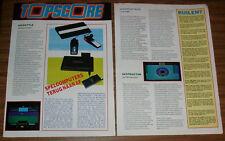Rara publicidad cbs Coleco Gemini Atari 2600 topscore Special Países Bajos 1984