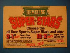 Beer Coaster Bar Mat >*< Win HEMELING Pints ~ 1981 Cricket, Boxing Super Stars +