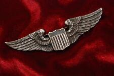 "WWII U.S. 1st TYPE LUXENBERG 3"" PILOT'S WING w/PIN BACK"