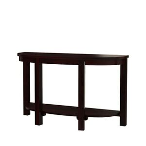 Classic Evergreen Sheesham Wood Two-Tier Half-Moon Solid Wood Console Table/Desk