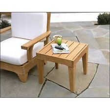 """Caranas Grade-A Teak 22"""" Square Side End Table  Stool Outdoor Patio Furniture NW"""