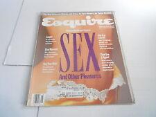 MAY 1989 ESQUIRE mens fashion magazine SEX ISSUE