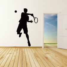 Sports tennis Player vinyl wall stickers home decor DIY Home decals Poster Kids