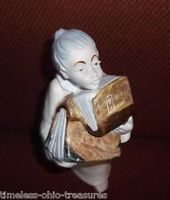 "angel holding books antique porcelain pottery ""ingles"" Made Spain"
