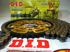 TRIUMPH 675 STREET TRIPLE 06-13 DID GOLD 525 X-Ring CHAIN AND SPROCKETS KIT