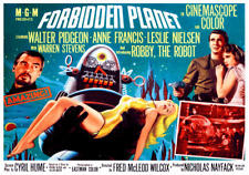 Forbidden Planet Classic 1950s Sci Fi Movie Poster Atomic Era Retro Vintage Cool