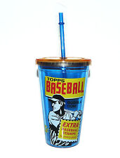 16 oz. Double Wall Arylic TOPPS Baseball Card Vintage Style Baseball Cup Tumbler