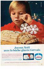 PUBLICITE ADVERSTISING  1968   GERVAIS  glaces buche glacée de NOEL