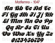 #1047 CUSTOM LETTERING Window Decal Windshield Vinyl Sticker Bold Text Motfemno