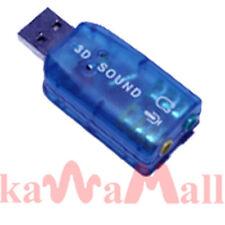USB 3D Audio External 5.1 Sound Card Adapter Vista 98