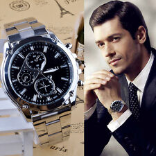 Luxury Mens Watches Stainless Steel Band Machinery Analog Quartz Business Watch