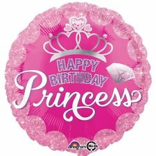 "Happy Birthday Princess Foil Balloon 18"" PARTY ADDOBBI ELIO ARIA Rotondo Rosa"