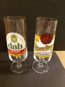 pilsner urquell glass and dab export beer glasses no damage