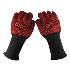 2Pcs Heat Proof Resistant Mitt Oven Ove Glove Burn BBQ Fire Hot Surface Handler