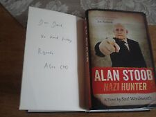 Alan Stoob: Nazi Hunter: A comic novel-Saul Wordsworth. SIGNED COPY.F/E.H/B.2014