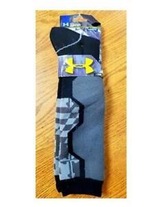 Under Armour UA CG Youth L 1-4 Snowsports Over Calf Socks Black 2196 FAST! E44
