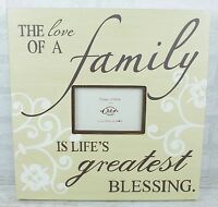 """Photo Frame """"The Love Of A Good Family"""" Picture Wood Home Decor 4x6"""" Ex L SG1202"""