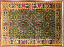 9' X 12' Oriental Hand Knotted Arts & Crafts Area Rug - Q1695