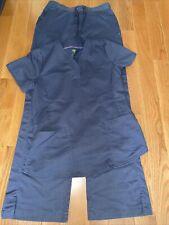 Healing Hands Purple Label Junior Fit Scrub Set Gray Small Tall Pants