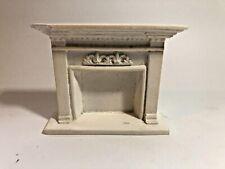 "Vintage Dollhouse Miniature Fancy ""Marble"" Fireplace Hearth Mantle Heavy Ceramic"