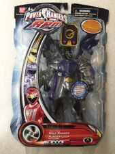 "Power Rangers RPM Moto-Morph 6"" Black Wolf Ranger New  Factory Sealed 2009"