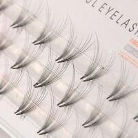KM_ 48Pcs Pro Makeup Mink Fur Individual Cluster Eye Lashes Fake False Eyelash