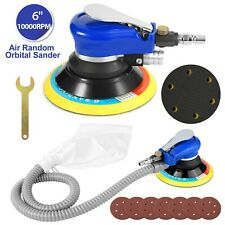 6'' Air Body Random Orbital Palm Sander DA Buffing Sanding W/ 7 Discs 150mm Auto