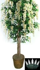 Artificial 6' Wisteria Tree Plant Topiary Palm Lights Arrangement Christmas Den