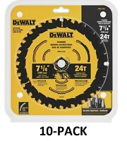 (10 PACK) Dewalt 7-1/4-in 24T Framing Saw Blade DWA171424B10 replaces DW3599B10
