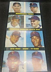 1970 Minnesota Twins Player Cover Baseball Press TV Radio Guide