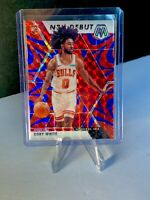 Coby White 2019-2020 Panini Mosaic NBA Debut RC Reactive Blue Red BULLS - Nice!