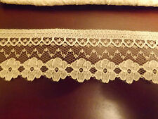 Ivory scalloped edge lace approx 21 mts