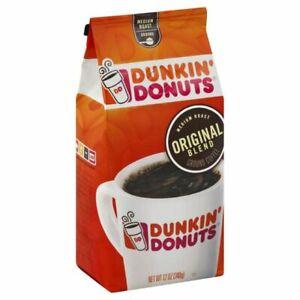 Dunkin Donuts Original Blend Medium Roast Ground Coffee 12 Oz - PACK OF 3