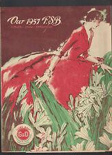1957 FSB Flower Show Broadside 1957 Goulard & Olena Skillman NJ Catalog