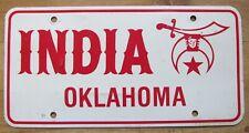 1970's GRAND LODGE OF INDIA FREEMASON of OKLAHOMA BOOSTER License Plate