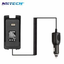 NKTECH LB-75L Car Charger Battery Eliminator For TYT DMR MD-390 Two-Way Radio