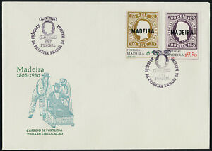 Portugal - Madeira 66-7 on FDC - Stamp on Stamp