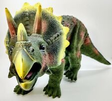 """Toys R Us Exclusive Large 15"""" Rubber Maidenhead Triceratops Dinosaur"""