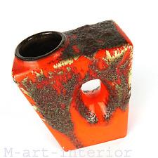 """cool 70´s design """"Chimney"""" Vase Fat Lava glaze Ü Keramik West Germany 70er Jahre"""