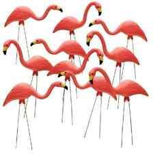 Pink Flamingo Outdoor Lawn Ornaments 26 In. Yard Decor Garden Retro Art 10 Pack